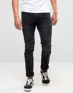 Черные байкерские джинсы скинни Blend Cirrus - Черный