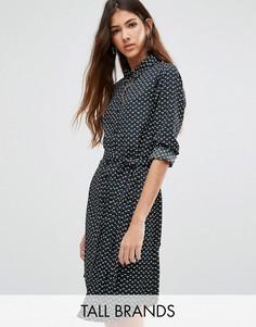 Платье-рубашка в горошек Brave Soul Tall - Черный