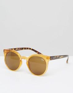 Круглые солнцезащитные очки Quay Australia - Коричневый