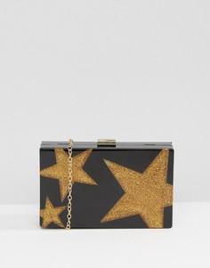Клатч с блестящей звездой Liquorish - Черный