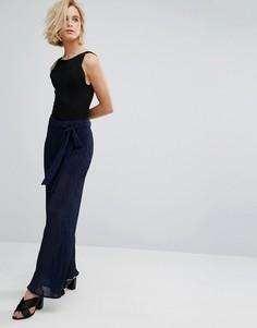 Плиссированные брюки с завышенной талией J.O.A - Темно-синий