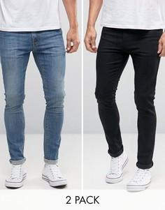 2 пары джинсов скинни (черные и синие) ASOS - СКИДКА 15 - Мульти