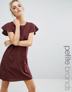 Платье с оборками на рукавах Vero Moda Petite Emma - Коричневый