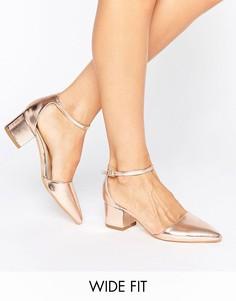 Туфли на каблуке для широкой стопы Truffle - Медный