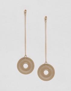Серьги-подвески в виде дисков Nylon - Золотой