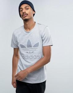 Футболка со вставкой adidas Originals California - Серый