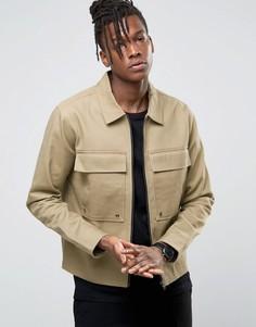 Куртка в стиле милитари с большими карманами Only & Sons - Бежевый