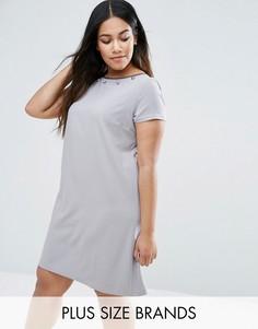 Платье с декоративной отделкой Elvi Plus - Серый