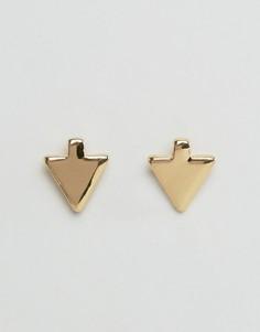 Уголки для воротника в форме стрел DesignB London - Золотой