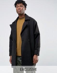 Oversize пальто-кокон Reclaimed Vintage - Черный