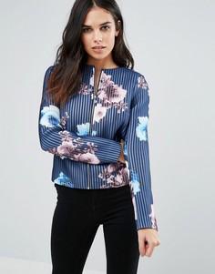 Пиджак с розами Paper Dolls - Темно-синий