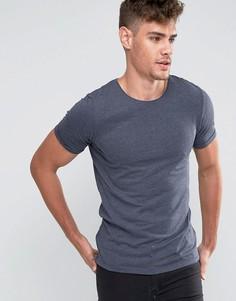 Удлиненная футболка с молнией Jack & Jones - Темно-синий