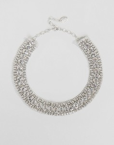 Броское ожерелье с кристаллами Swarovski от Krystal - Серебряный