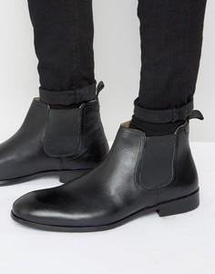 Черные кожаные ботинки челси Red Tape - Черный