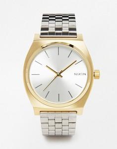 Часы из контрастных металлов Nixon Time Teller - Серебряный