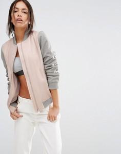 Куртка-пилот с контрастными рукавами New Look - Розовый