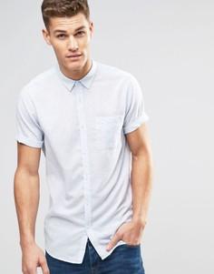 Голубая рубашка классического кроя с короткими рукавами New Look - Синий
