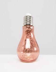 Подвесной светильник в виде лампочки New Look - Медный