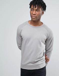 Серый свитшот с рукавами реглан New Look - Серый