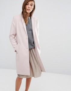 Строгое пальто-бушлат New Look - Розовый