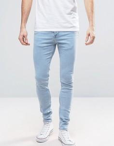 Светло-синие супероблегающие джинсы New Look - Синий