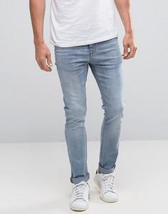 Голубые джинсы скинни New Look - Синий