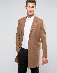 Шерстяное бежевое пальто New Look - Рыжий
