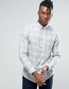 Светло-серая клетчатая рубашка стандартного кроя New Look - Серый