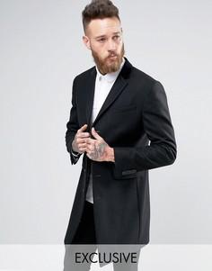 Пальто с бархатным воротником Heart & Dagger - Черный