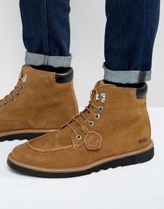 Замшевые ботинки на шнуровке Kickers Kwamie - Рыжий