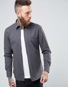 Серая рубашка классического кроя на молнии Farah - Серый