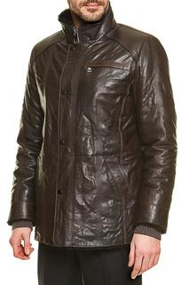 Кожаная куртка утепленная натуральным мехом