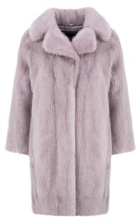 Пальто из меха норки с английским воротником Fellicci