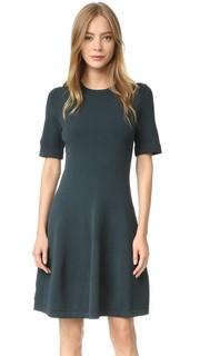 Трикотажное платье с короткими рукавами Grey Jason Wu