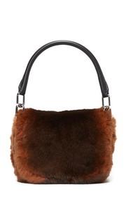 Маленькая сумка на ремне из меха кролика породы Рекс Alexander Wang