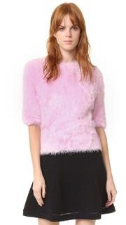 Пушистый свитер с короткими рукавами Carven