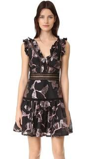 Металлизированное платье без рукавов с V-образным вырезом Rebecca Taylor