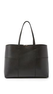 Объемная сумка с короткими ручками Block T Tory Burch