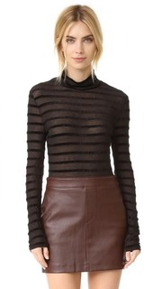 Turtleneck Sweater with Stripes Bcbgmaxazria