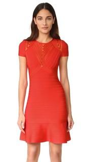 Платье с короткими рукавами Herve Leger