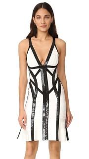 Платье Zahara с черными блестками Herve Leger