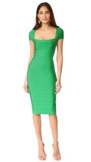 Платье Margot с короткими рукавами Herve Leger