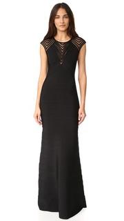 Вечернее платье Maribel с короткими рукавами Herve Leger