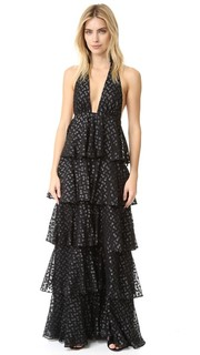 Вечернее платье с оборками и рисунком в четкий горошек Jill Jill Stuart