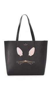 Объемная сумка Bunny Hallie с короткими ручками Kate Spade New York