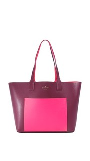 Двусторонняя объемная сумка с короткими ручками Posey Kate Spade New York