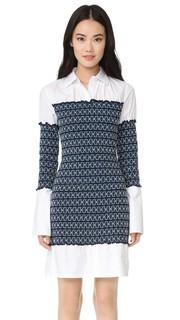 Платье-рубашка из ткани в рубчик со сборками Opening Ceremony
