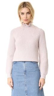 Ruffle Turtleneck Pullover Rebecca Taylor