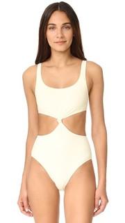 Сплошной купальник Bella с узлом спереди Solid & Striped