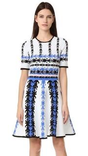 Трикотажное платье-солнце Yigal Azrouel